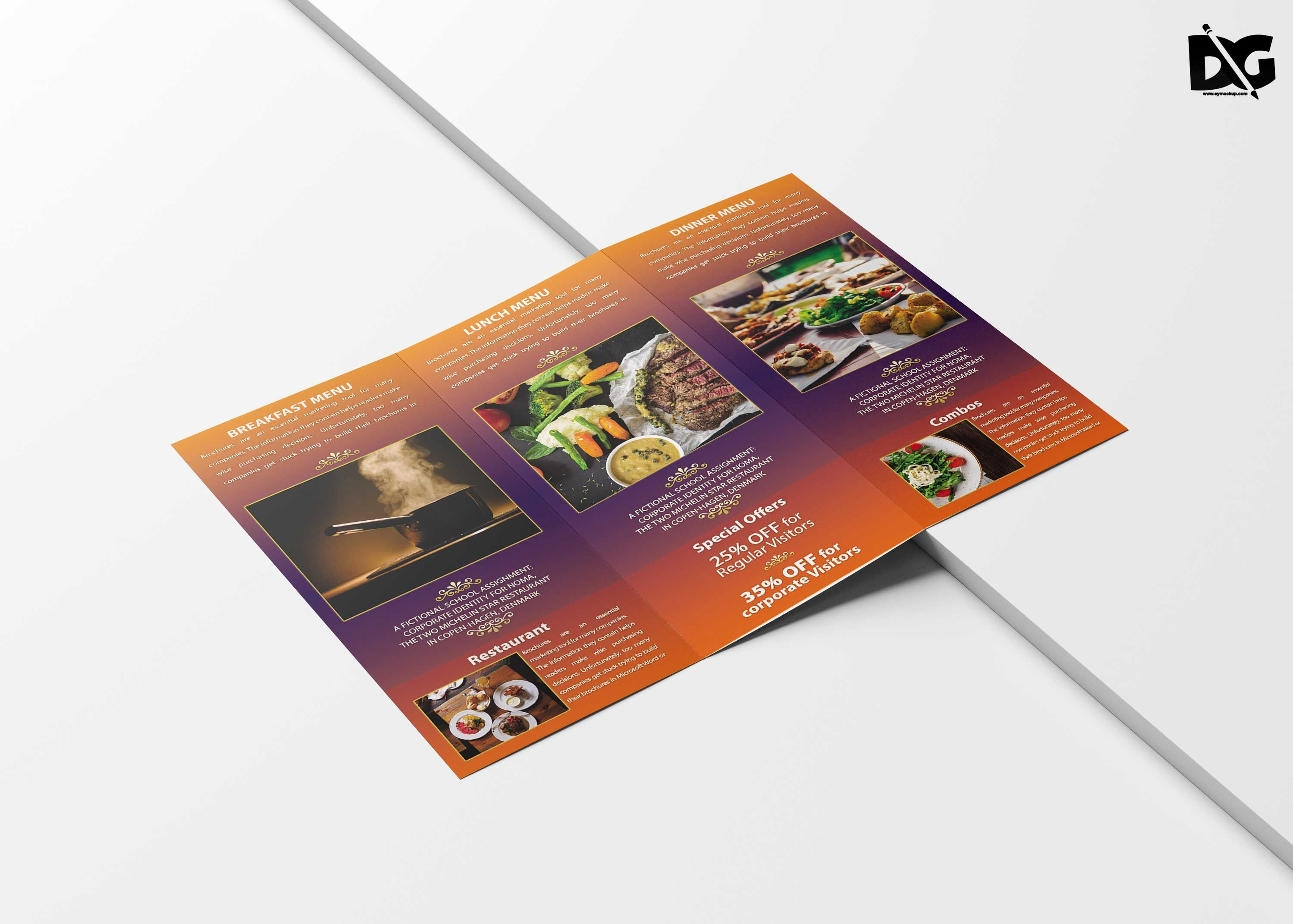 Free Hotel TriFold Brochure Template
