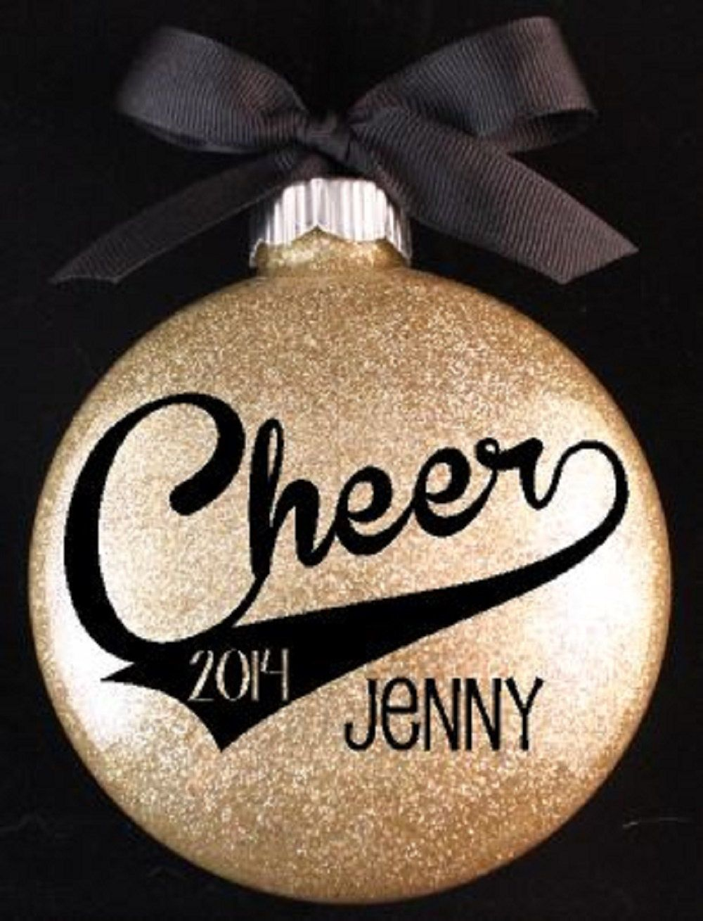 Cheerleader Christmas Ornament, Cheer Ornament with Name and Year ...