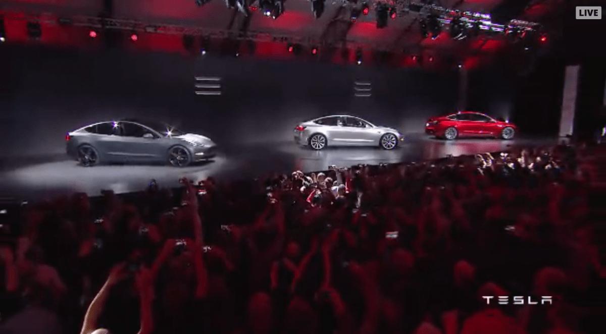 Tesla Model 3 revealed Elon Musk shows off new 35, 000