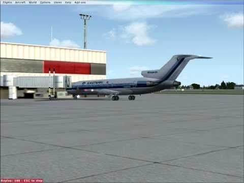 Eastern Air Lines Boeing 727 200 Flight Sim Fsx Powerback At Atlanta Airport Atlanta Airport Boeing 727 200 Boeing 727
