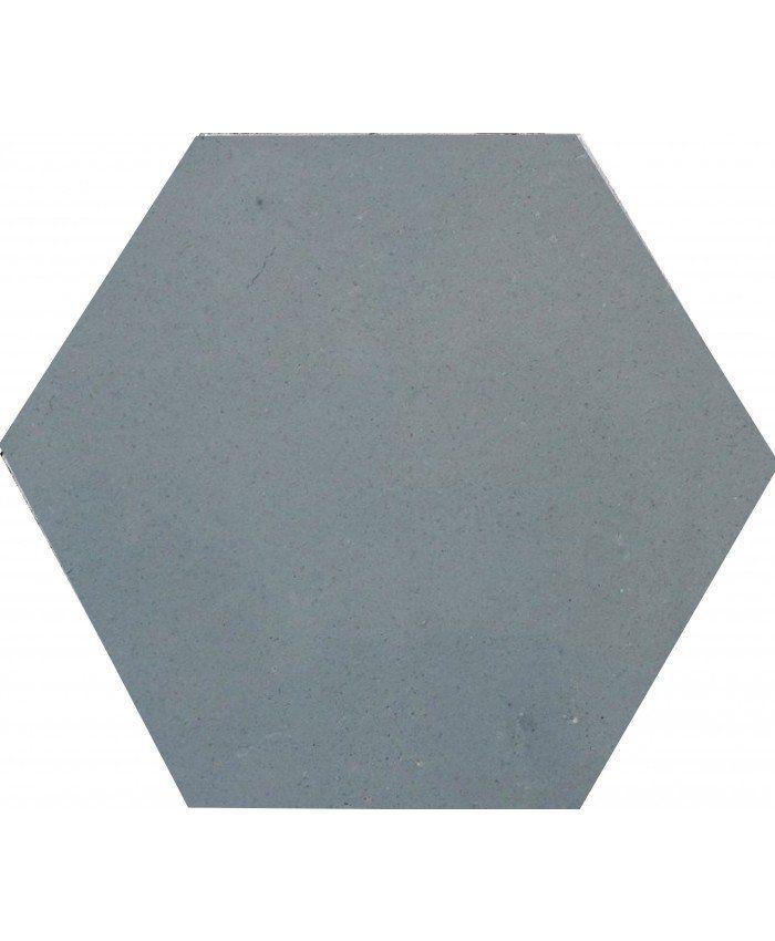 These simple but elegant single tone hexagonal Sky Grey tiles, are ...