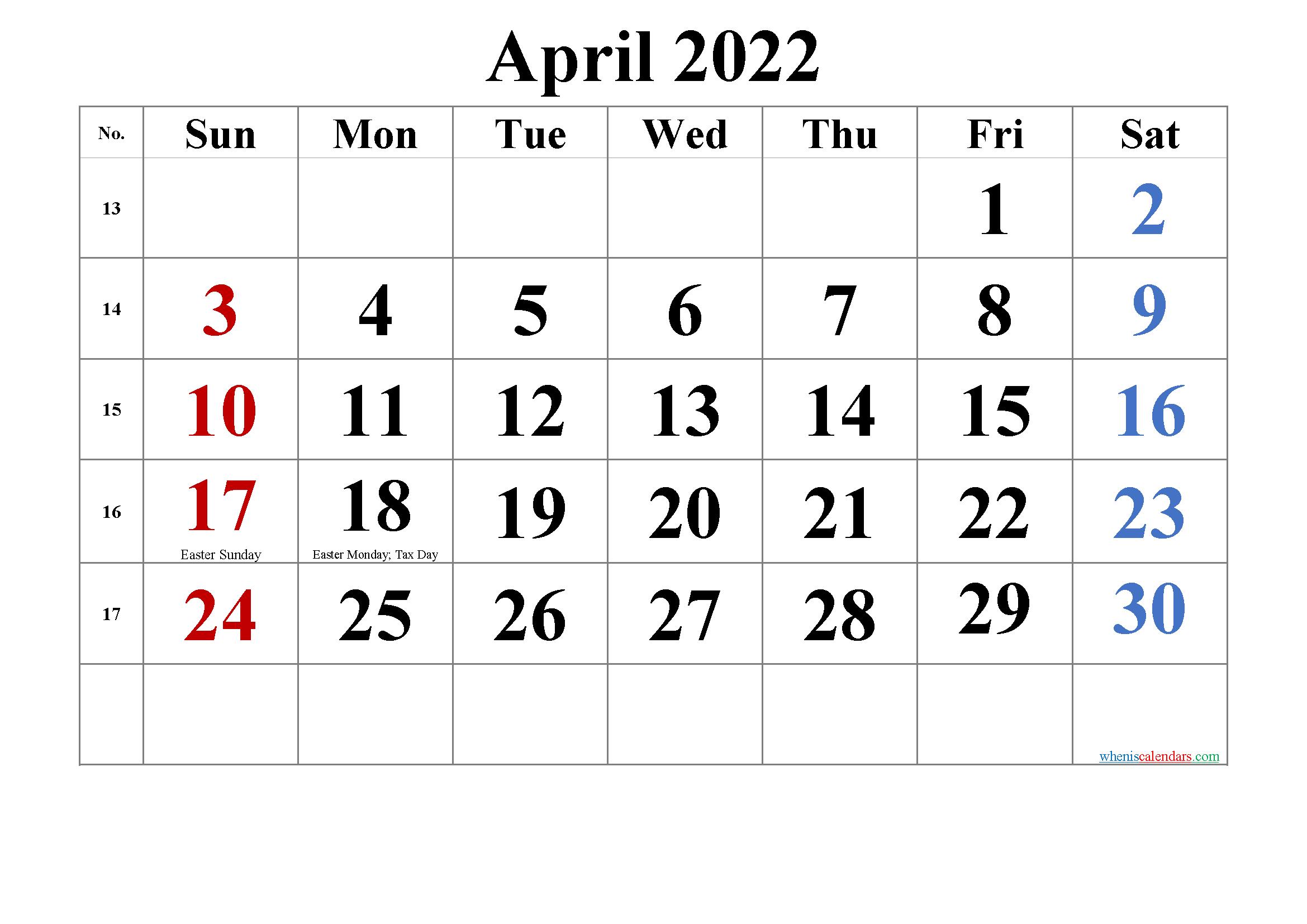 Free Printable April 2022 Calendar Pdf And Png Calendar Printables Monthly Calendar Printable 2021 Calendar