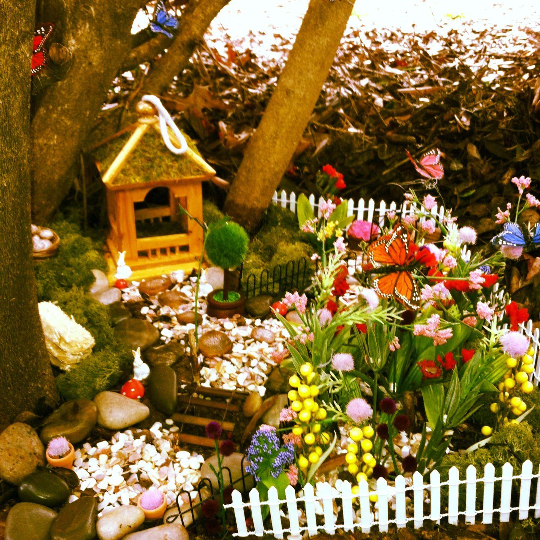 The beginning of my fairy garden village. | Fairy gardens ...