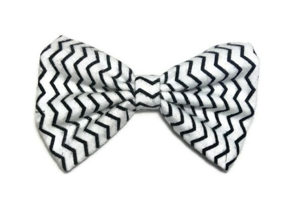 Zig Zag fabric hair bow