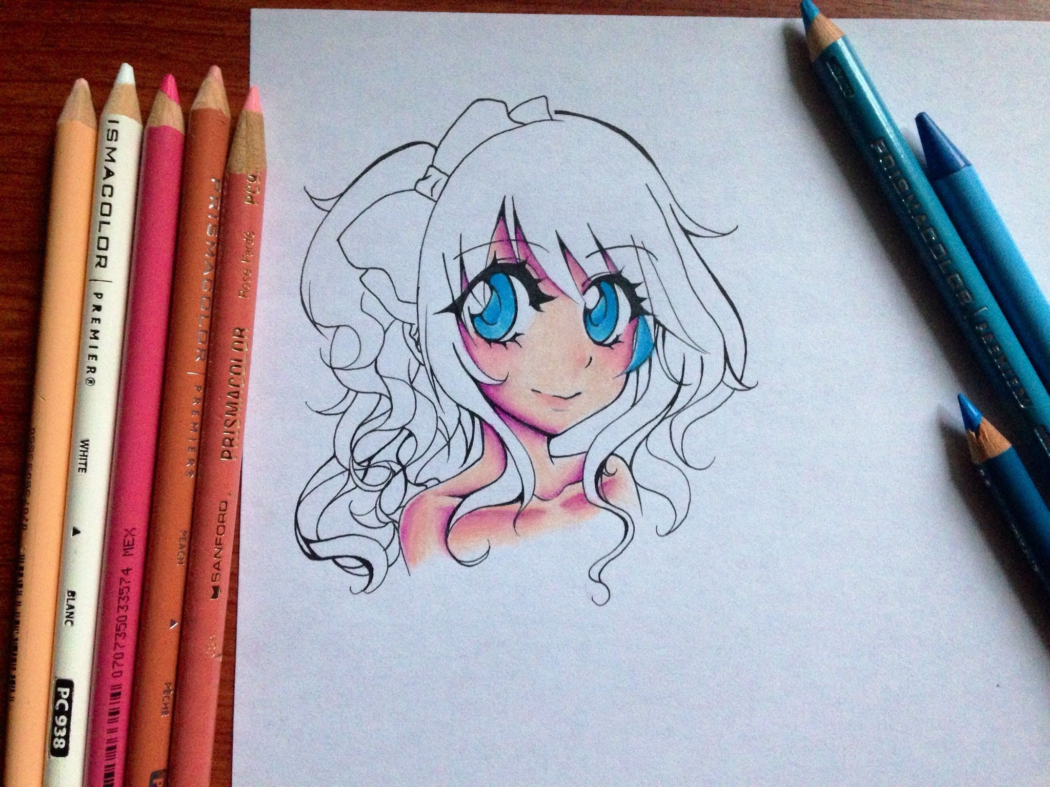 Tutorial: How to color Manga Skin and Eyes with Colored Pencils