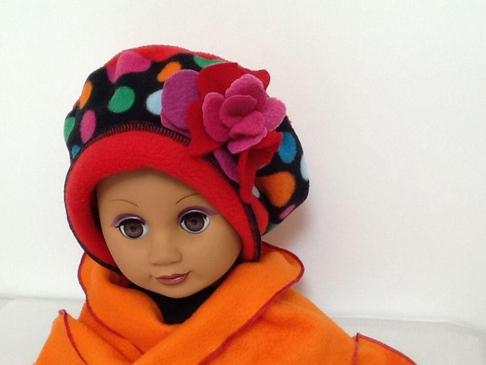 Béret écharpe sur mesure à pois multicolore   Mode filles par creation- valerie-castets 718ae7454cd