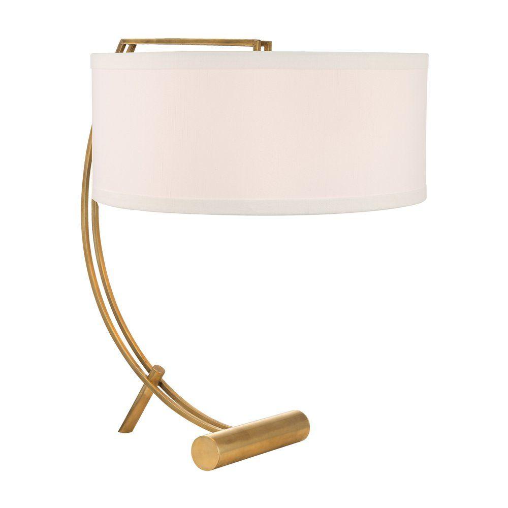 Shop hudson valley lighting l400 ws deyo 2 light table lamp with shop hudson valley lighting l400 ws deyo 2 light table lamp with faux silk shade aloadofball Images