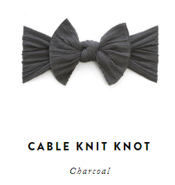 Charcoal Cable Knit Baby Bling 1f5463e9d38