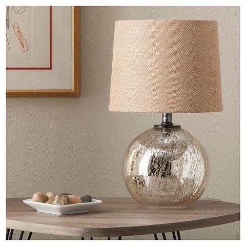 Mercury glass globe accent lamp threshold