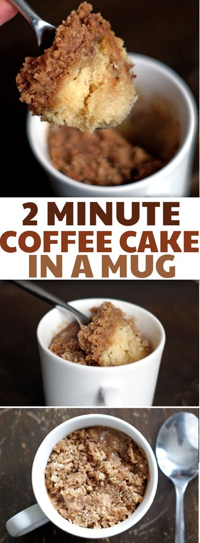 Coffee Cake In a Cup! The Best Coffee Mug Cake, ever!