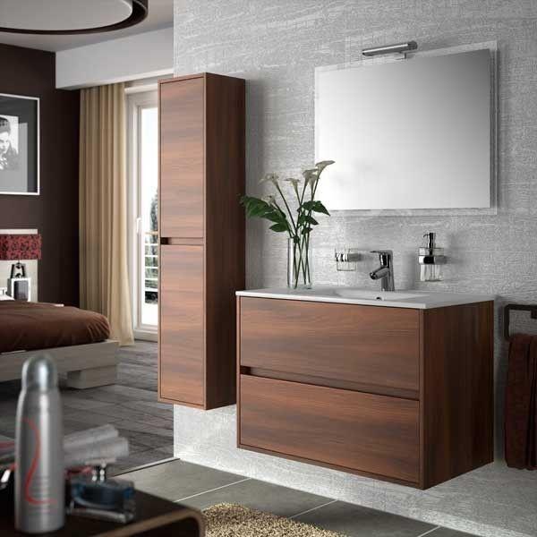 Baño moderno NOJA Conjunto Lavabo Modern Bathrooms Brown Style