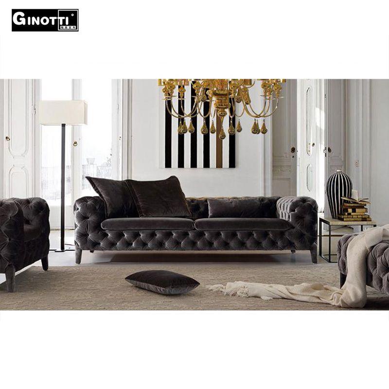 vente chaude pas cher velours chesterfield canap canap. Black Bedroom Furniture Sets. Home Design Ideas