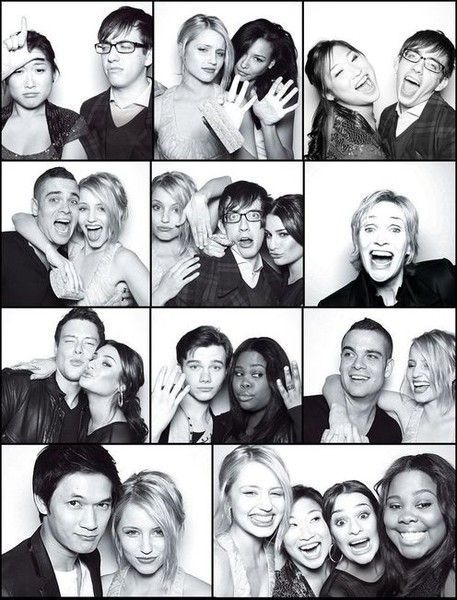 @gleeonfox @gleethemusic @diannaagron@msleamichele @NayaRivera @CoryMonteith   Glee Cast Photobooth