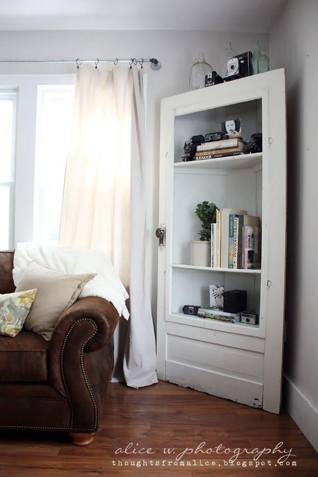 Perfect Thoughts From Alice: Salvage Door Corner Shelf