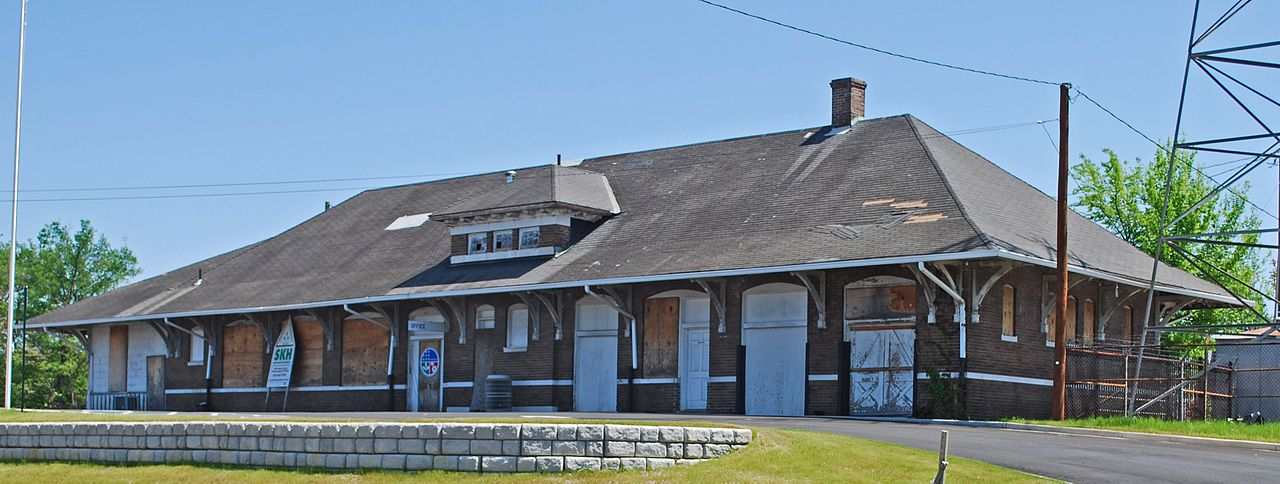 Cleveland southern railway depot in bradley county