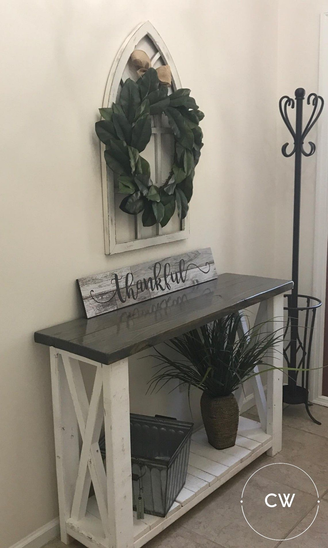 Grey Stained Entryway Table From Craftywoodworks Rustic