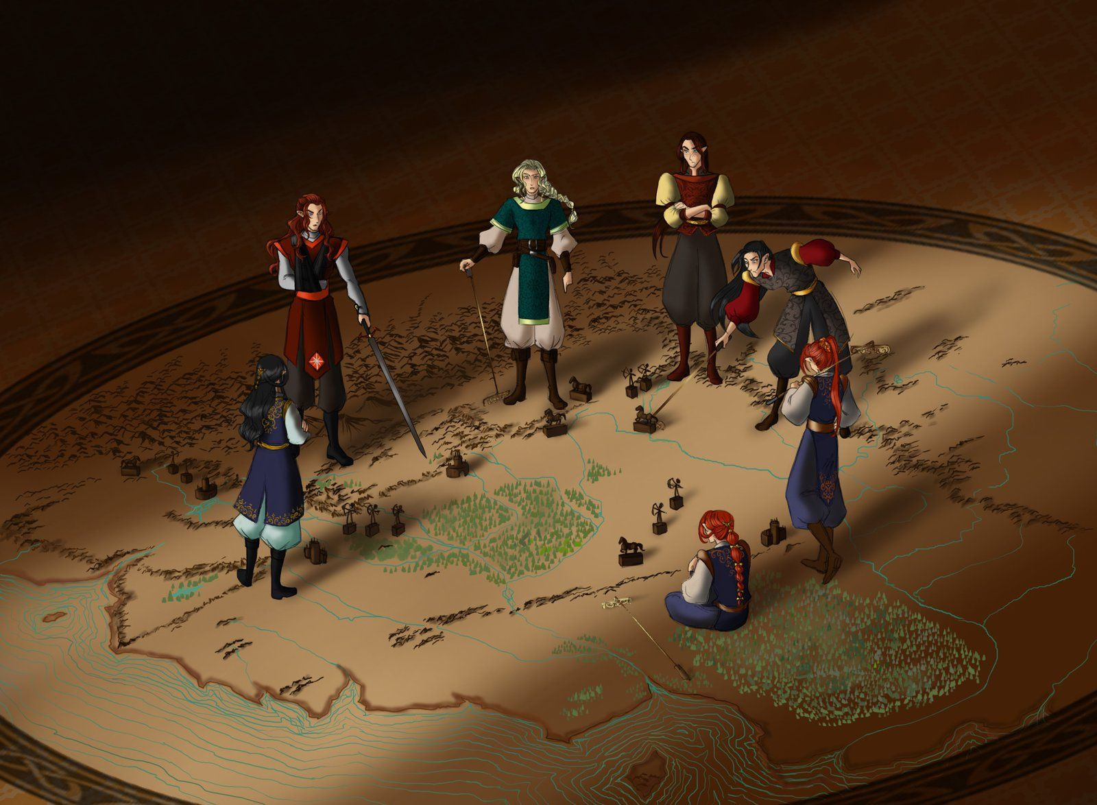 Феаноринги в Химринге обсуждают стратегию битв  war games by greenapplefreak on DeviantArt