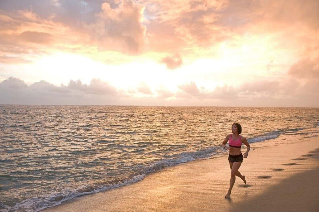 Sports and Lifestyle Photographer Ian Coble, Fitness Photography, Jogging at Sunset