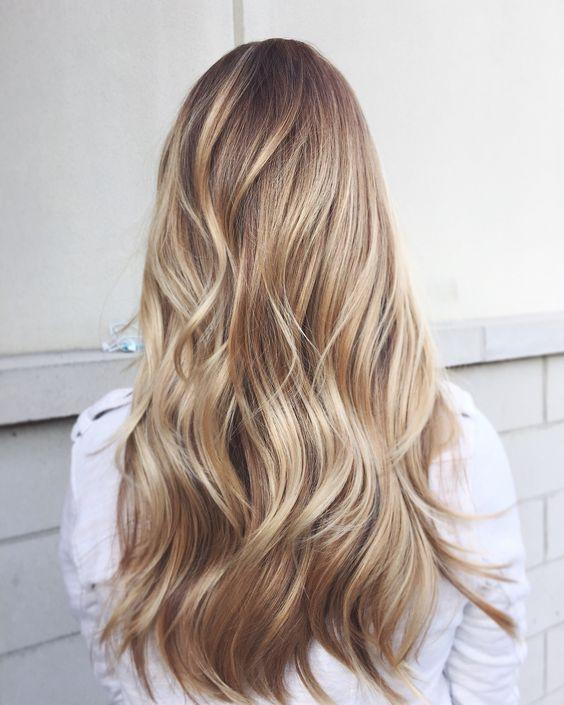 Balayage blond doré