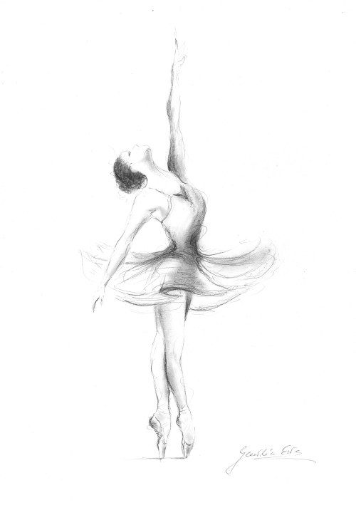 il_570xN.915944375_7u4r.jpg 500×709 pixels | Ballerina sketch ...