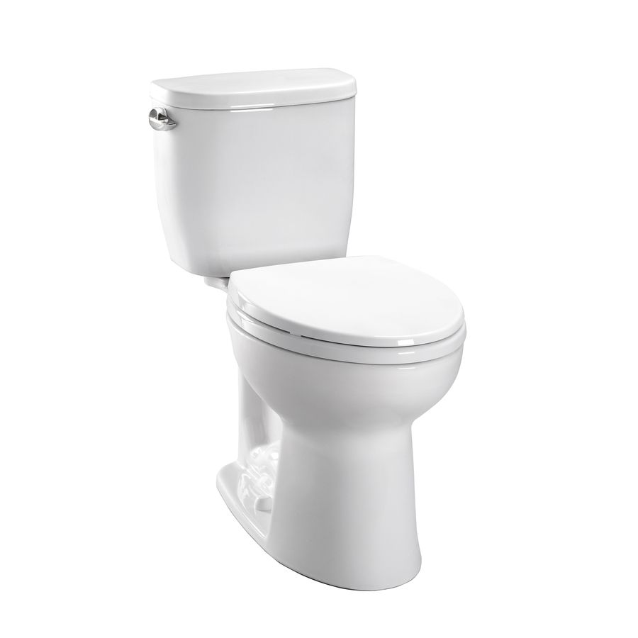 Toto Entrada Cotton White 1 28 Gpf 4 85 Lpf 12 Rough In Watersense Elongated 2 Piece Chair Height Toilet Toilet Toto Toilet Seat