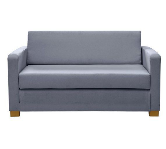 Home Lucy 2 Seater Fabric Sofa Bed Grey At Argos Co Uk
