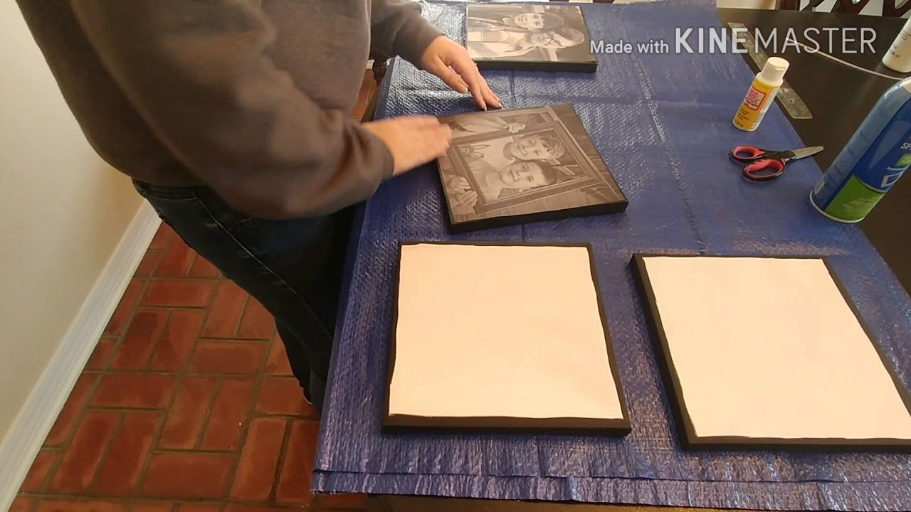 Diy inexpensive photo canvas using canvas from dollar