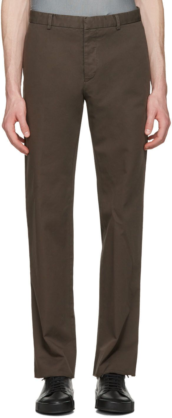 Jil Sander - Brown Twill Morris Trousers