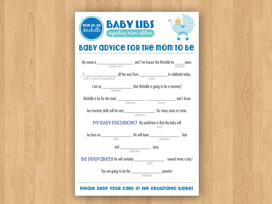 Baby Boy Shower Mad Libs Free Choice Image - handicraft ideas home ...