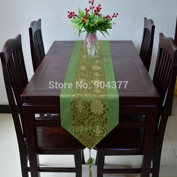 Dining Room Table Pad Covers Custom Chinese Knot Patchwork Table Runners Cover Cloth Luxury Damask Tea Inspiration Design