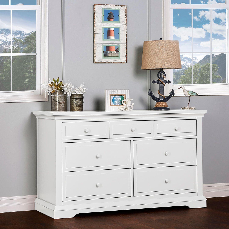 Evolur Parker 7 Drawer Double Dresser White Sam S Club Furniture White Dresser Double Dresser [ 1500 x 1500 Pixel ]