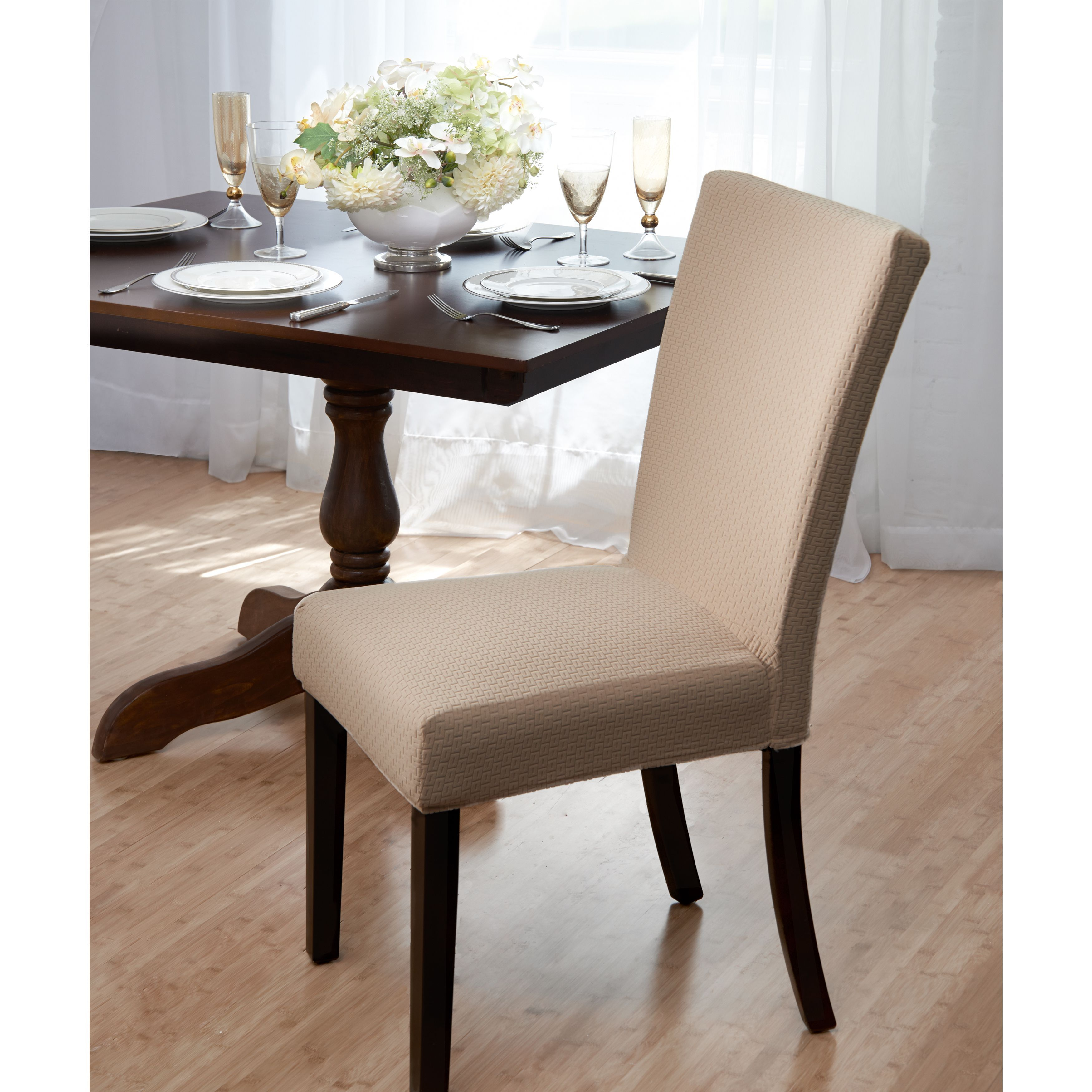 Madison Subway Knit Jacquard Dining Room Chair Cover