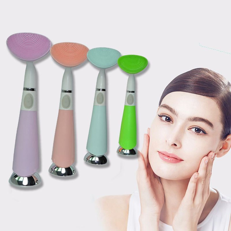 Electric Waterproof Silicone Brush Facial Cleansing Instrument Pore Dead Skin Cleanser Beauty Tool W Skin Cleanser Products Dead Skin Cleanser Facial Cleansing