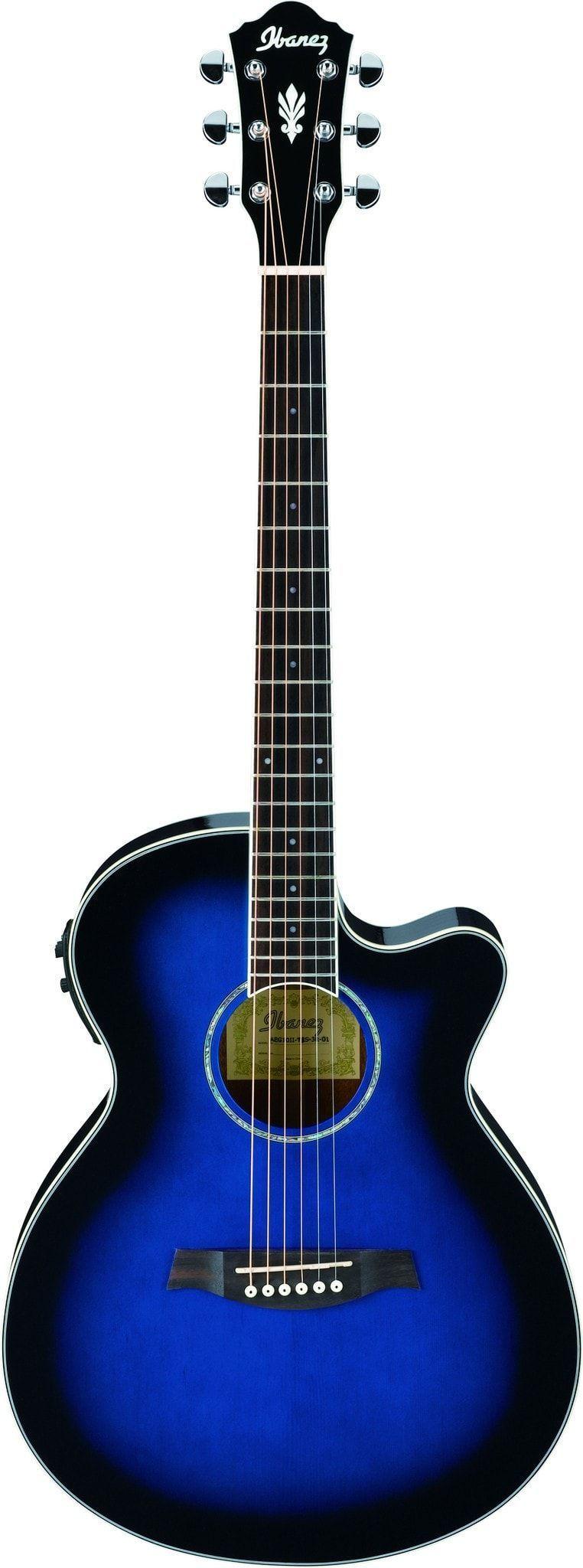 ibanez aeg10ii ae series acoustic electric guitar music guitar blue acoustic guitar. Black Bedroom Furniture Sets. Home Design Ideas