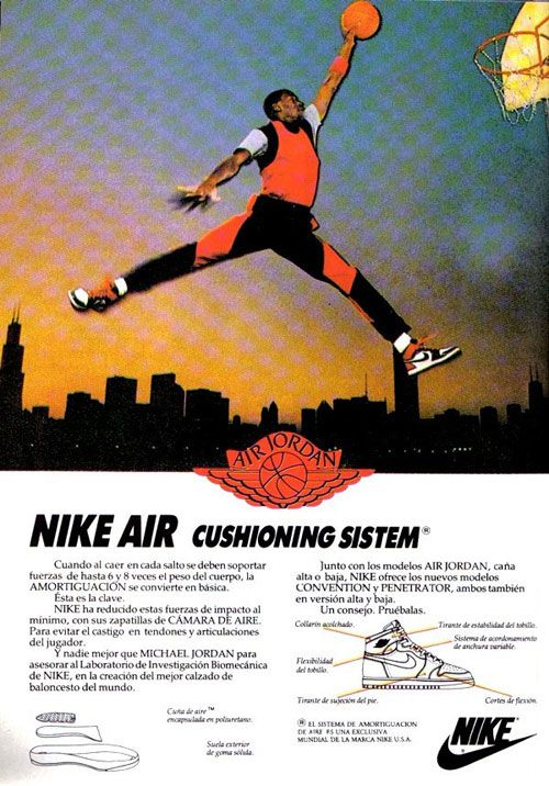 reputable site 5816c 61345 Nike Vintage Air Jordan Jumpman Ad  crispculture