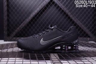 631ea89e5bc5c Mens Nike Air SHOX World Cup Flyknit Triple Black Running Shoes ...