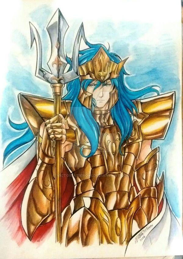 Saint Seiya Poseidon fanart by victoriapieroni deviantart