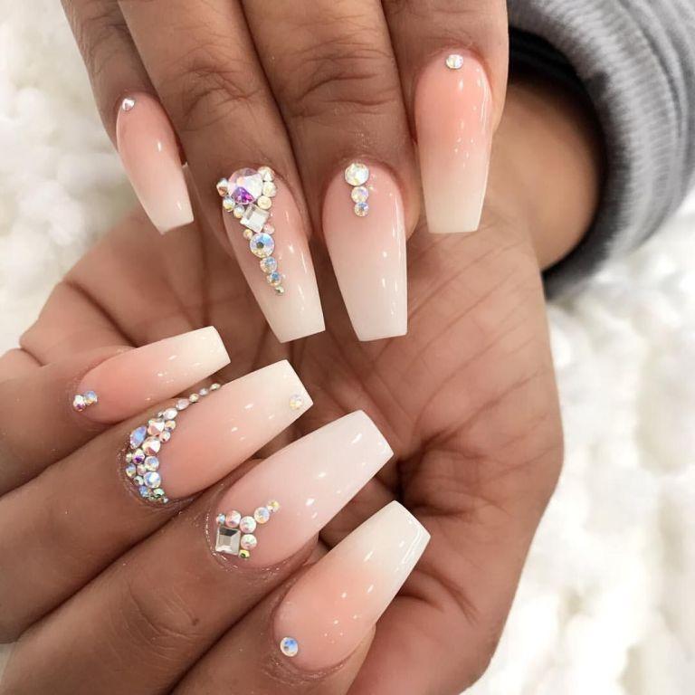 19 Ideas For Your Wedding Day Nails Weddingtopia Wedding Day Nails Quinceanera Nails Bridesmaids Nails