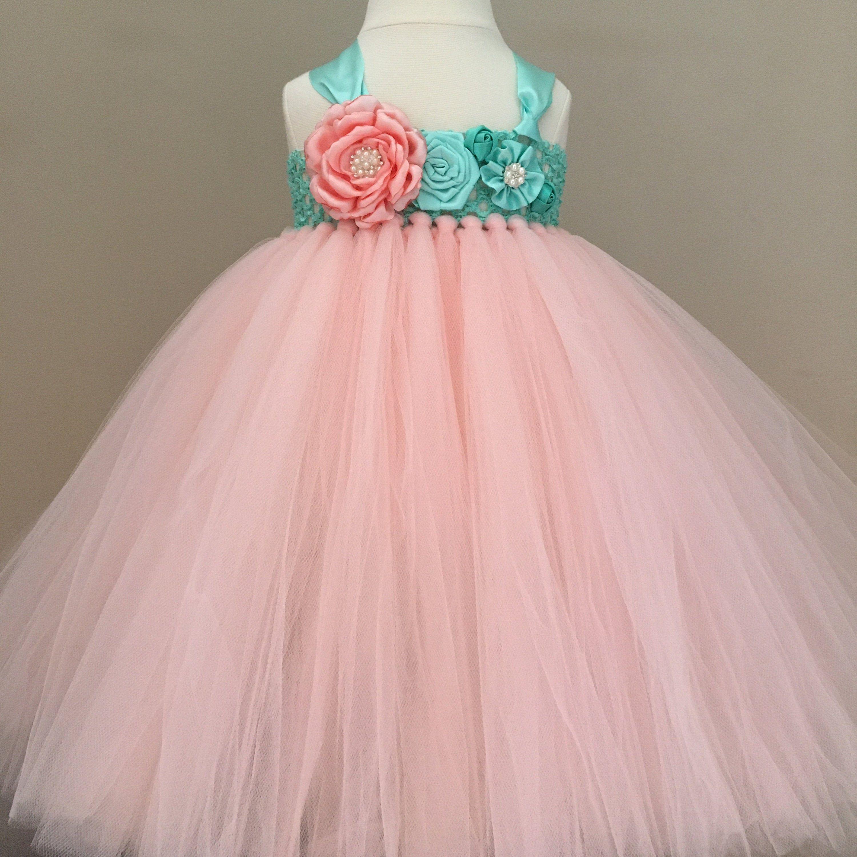 First Birthday Tutu Dress Baby 8st Birthday Girl Outfit Aqua