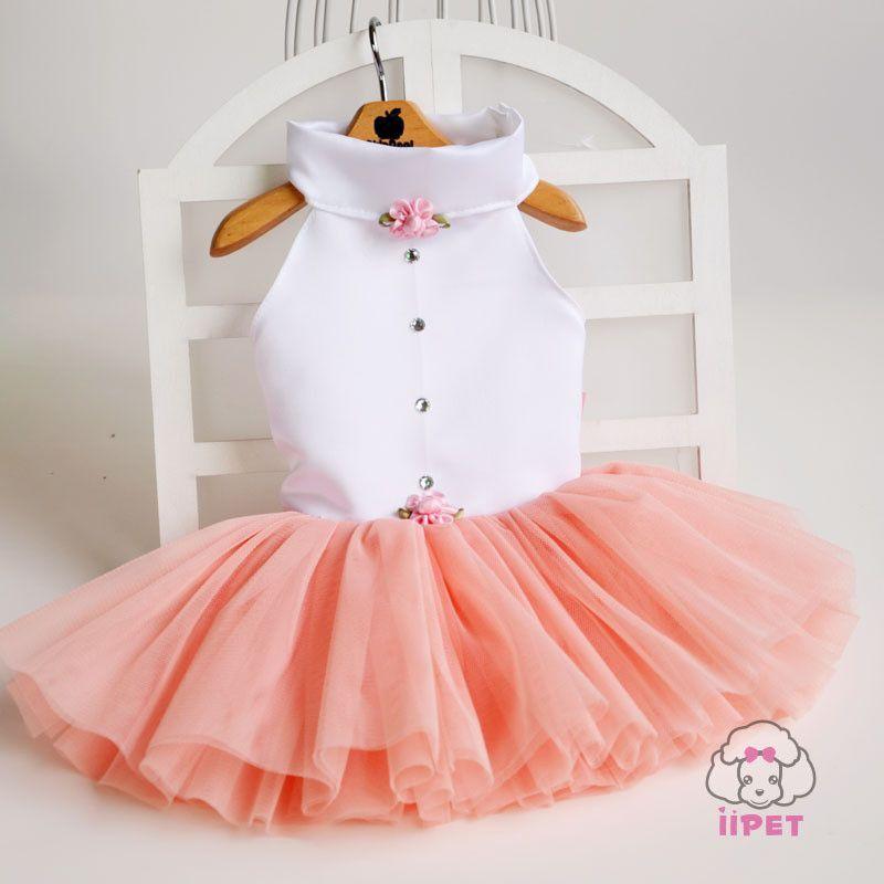 Elegant Luxury Dog Dresses Pink Summer Small Dog Tutu Dress Cute