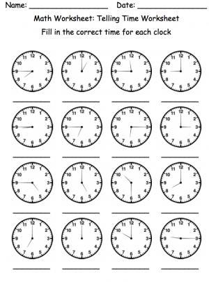 Lots of Telling Time W.S.   Math   Pinterest   Basic math, Telling ...