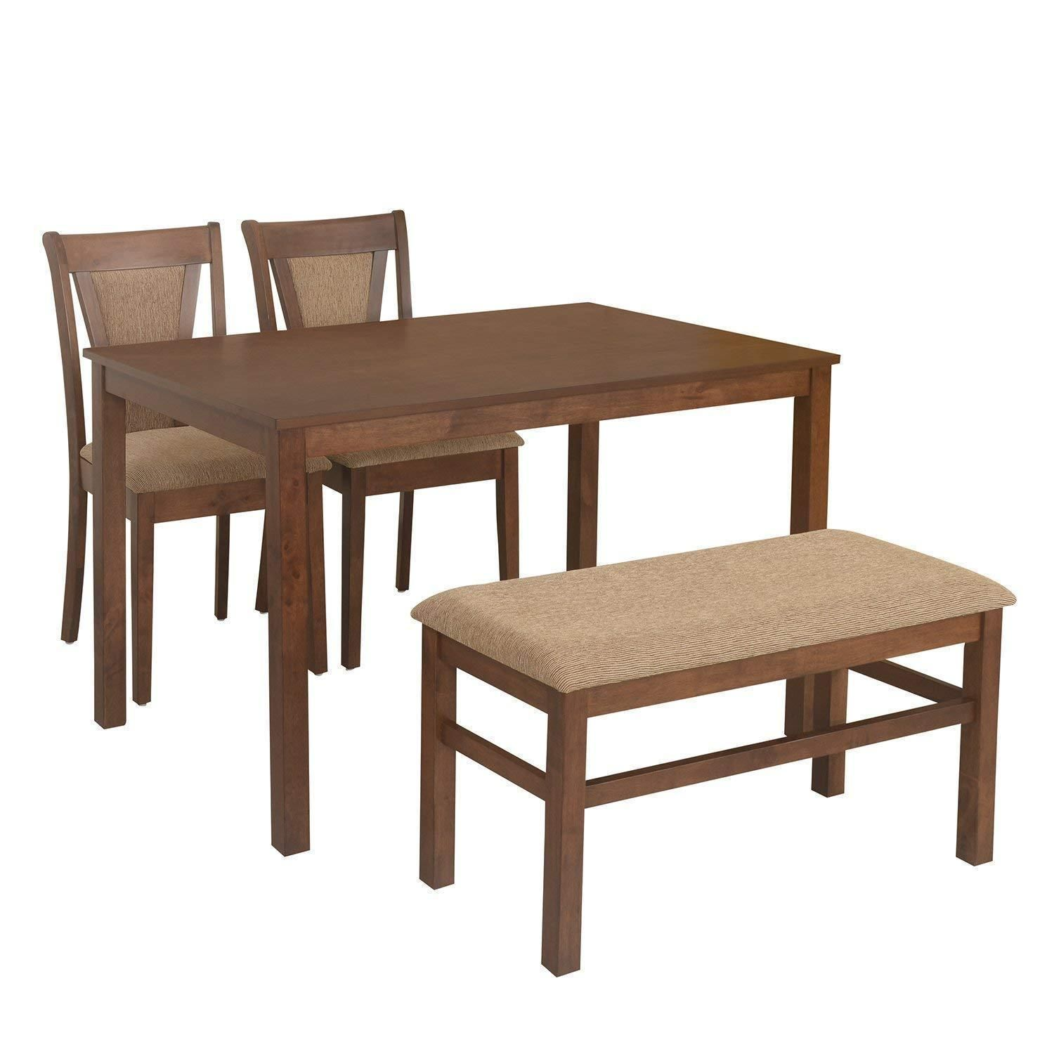 Insignia Jewel 4 Seater Dining Table Set (Walnut) #techlaunches #buyatwebsite # ...