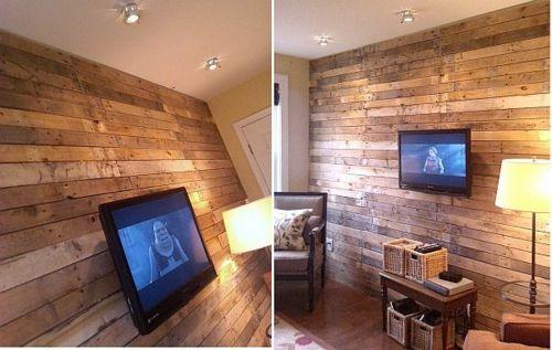 Wandpaneele Holz Rustikales Wohnzimmer