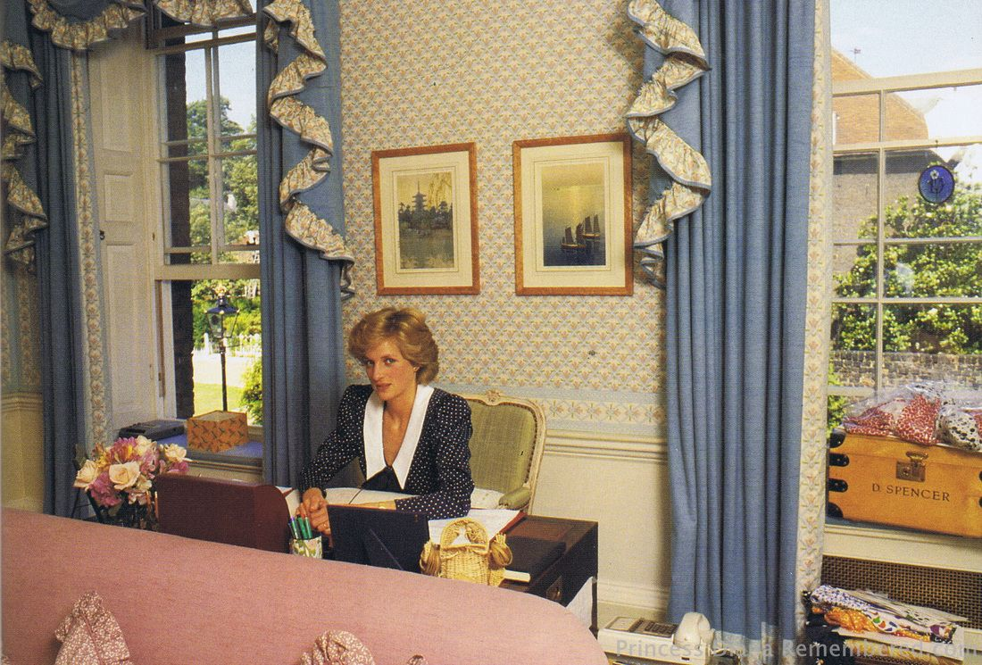 Hese Pictures Show Princess Diana S Apartment At Her Home Inside Kensington Palace
