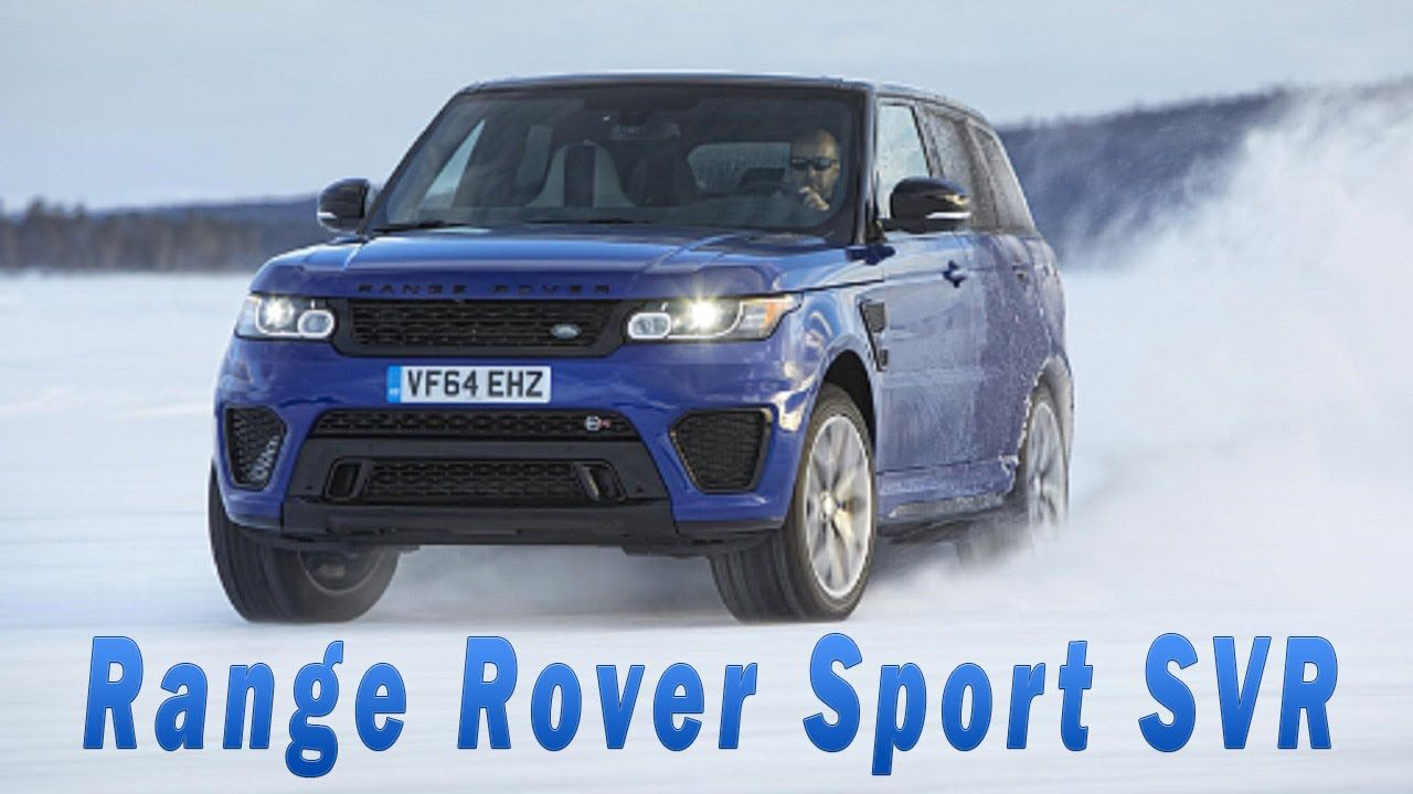 Range Rover Sport SVR on Arctic Silverstone Circuit (With