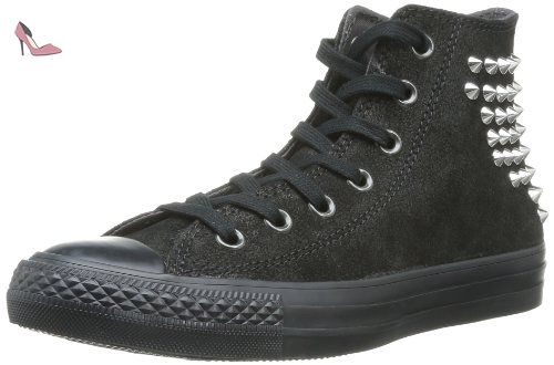 Converse Chuck Taylor All Star Collar Studs Canvas Hi, Baskets mode femme -  noir (