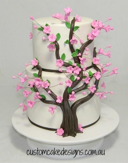 Blossom Tree Cake By Custom Cake Designs Cakes Cake Decorating