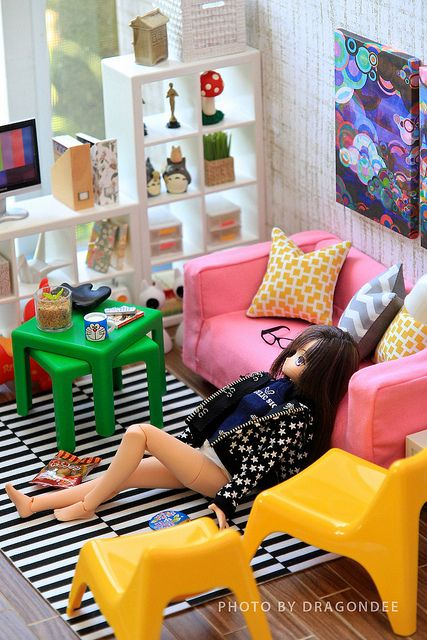 . IKEA HUSET doll furniture   Barbie Dream House Makeover   Doll