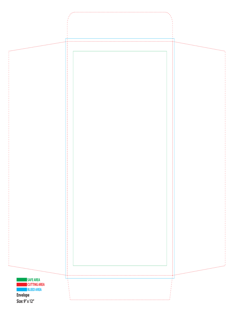 a4 envelope printing template