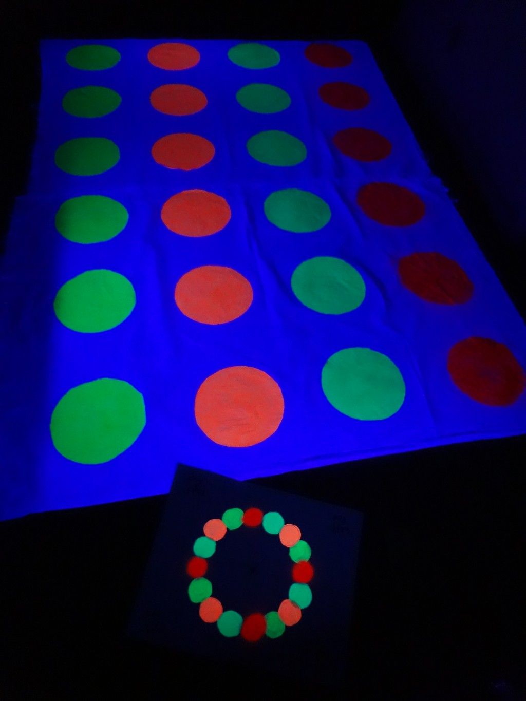 Make Your Own Glow-in-the-Dark Twister Game - Holidappy ...